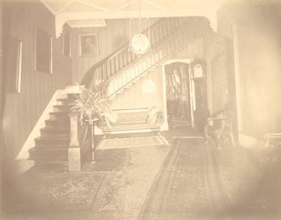 Loudoun House, interior; stairway