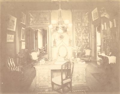 Loudoun House, interior; library