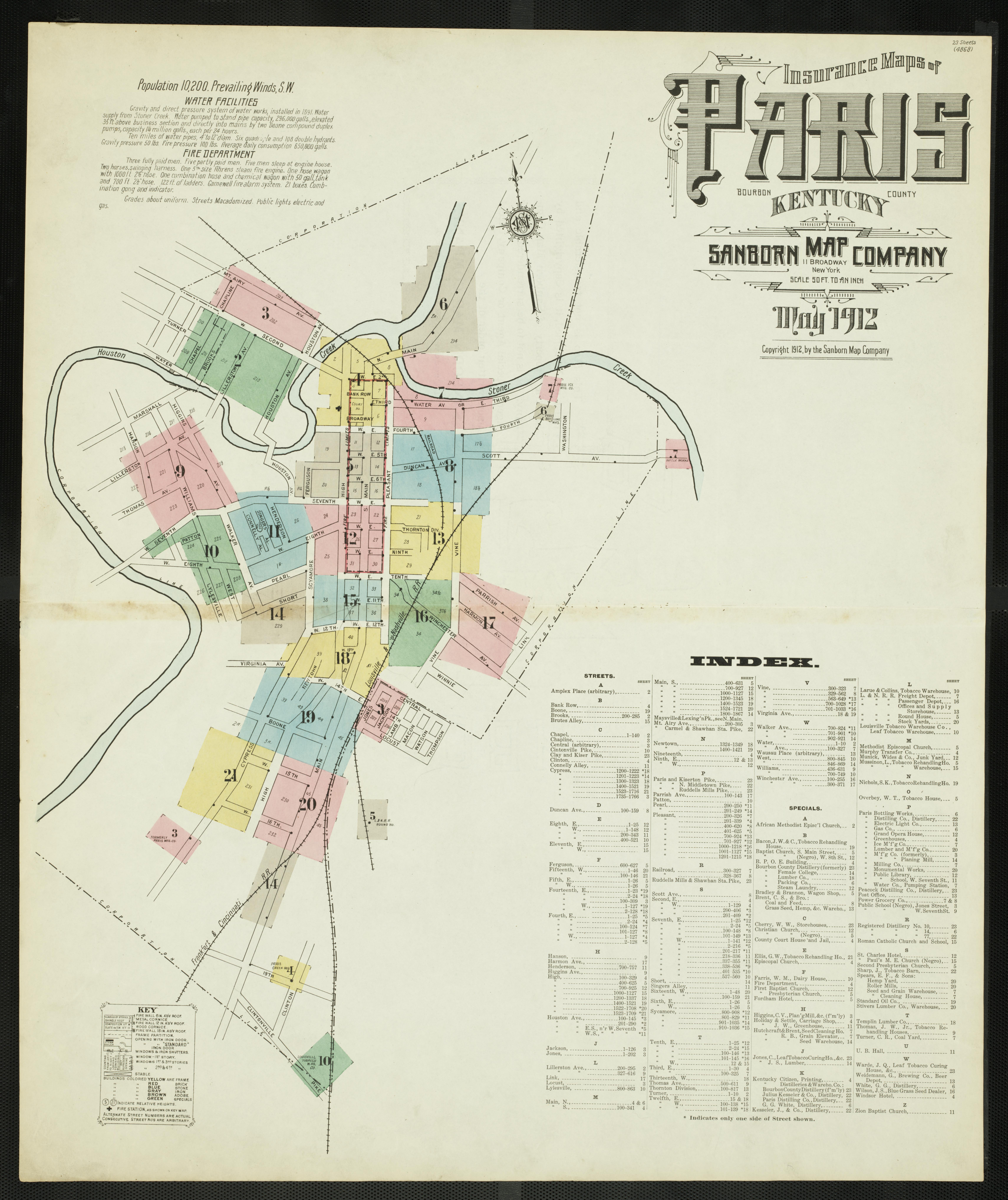 Picture of: Insurance Maps Of Paris Bourbon County Kentucky