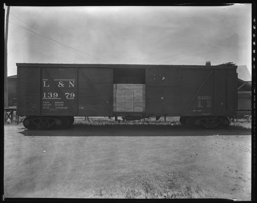James E. Pepper Company (bourbon whiskey distillery); L&N (Louisville & Nashville) Railroad box car