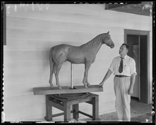 Horse Statue; Black Tony