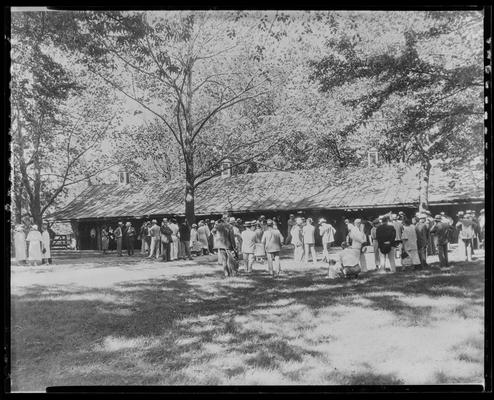 Walnut Hall Hill Farm; horse and crowd