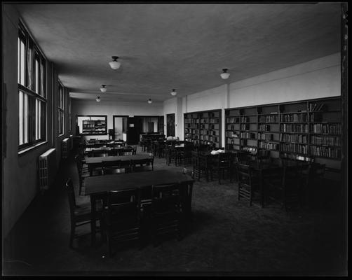 Bryan Station High School; interior, library