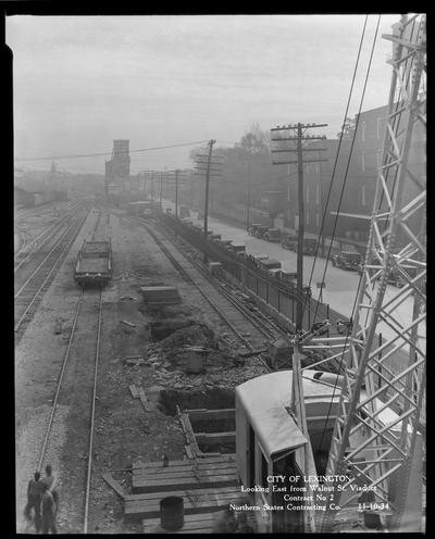 Northern States construction (City of Lexington, looking East from Walnut Street Viaduct, contract no. 2)
