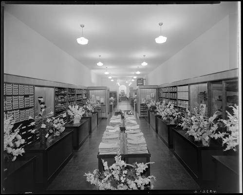 Meyers Brothers (278 West Main and Mill Streets); interior, clothing department