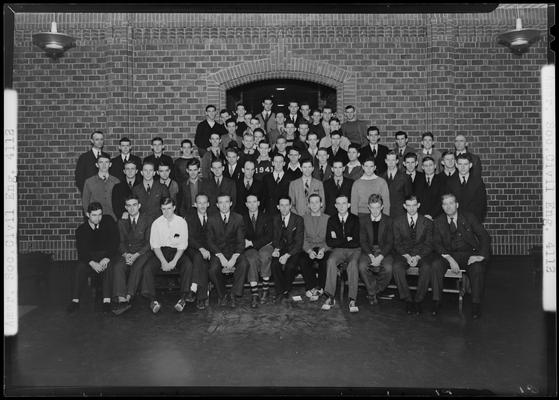 American Society of Civil Engineers (ASCE); (1939 Kentuckian) (University of Kentucky), group members posing for photograph in front of building