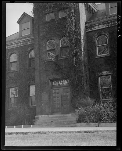 Campus Scenes; 1939 Kentuckian) (University of Kentucky), exterior, entrance to Mechanical Hall building