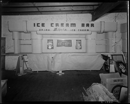 Dixie Ice Cream Company, 123 Rose Street (corner of Chesapeake); Dixie Ice Cream Bar display sign; location under construction