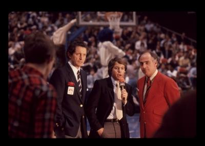 UK vs. LSU: NBC sportscasters Al Michaels, Bob Costas, and Billy Packer