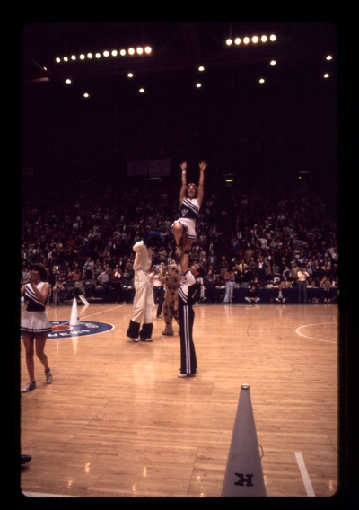 UK vs. LSU: Cheerleaders, blue cat mascot on stilts, unidentified mascot