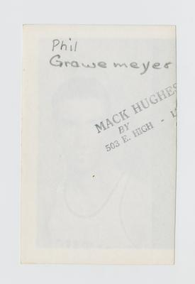 Photographic print: Grawemeyer, Phil