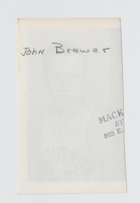 Photographic print: Brewer, John