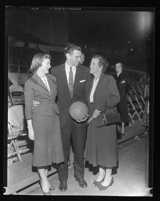 Player with mother and girlfriend