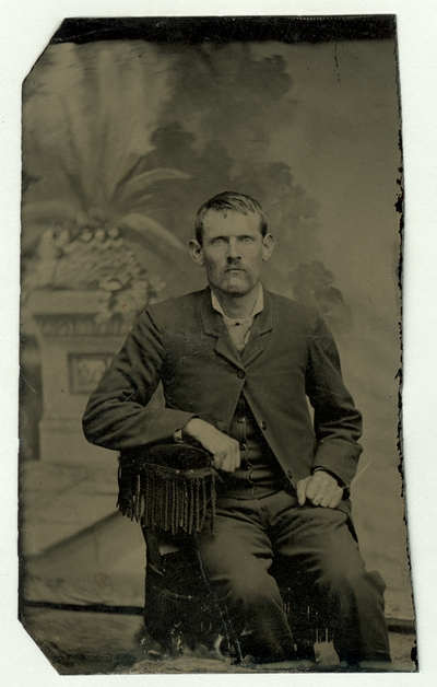 Hand-colored portrait of an unidentified man