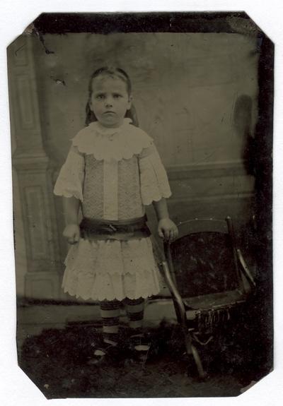 Portrait of an unidentified girl
