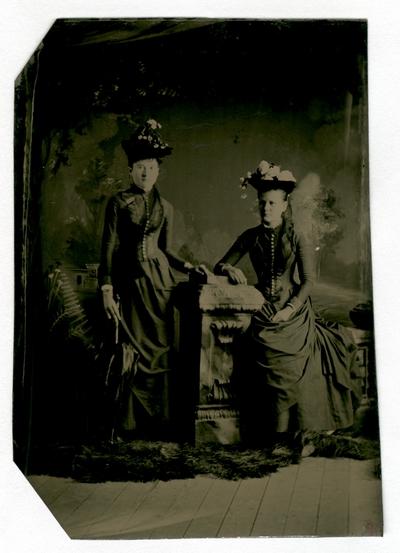 Group portrait of two unidentified women