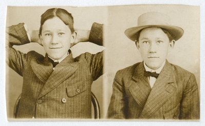 Portraits of an unidentified boy
