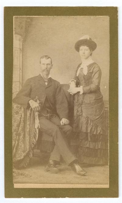 Portrait of an unidentified couple