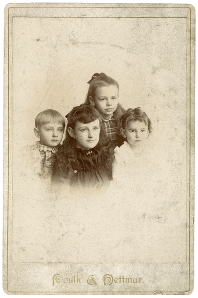 Four children; noted on the back: