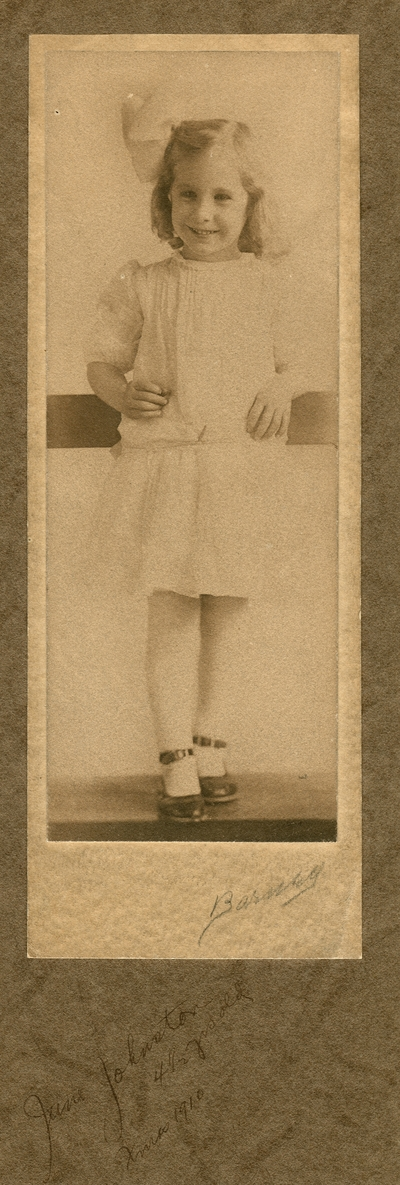 Young girl; noted on front: