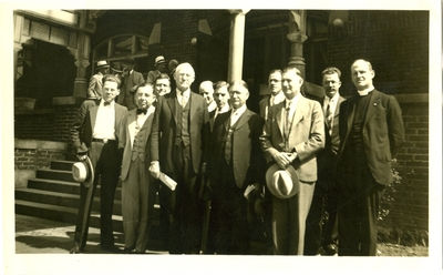 Visiting Reverends G.W. Haggard, E.L. McClurkan, C.P. Hall, R.P. Mahon, Reinhold Niebuhr, W.B. Spofford, L.C. Kelly, L.W. Buckley, S.E. Tull, W.F. Pettus, and C.R. Barnes