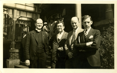 Reverends C.R. Barnes, C.P. Hall, Reinhold Niebuhr, and W.B. Spofford
