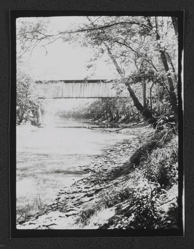 Covered bridge over a creek