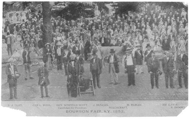 Bourbon Fair, Kentucky, glass negative
