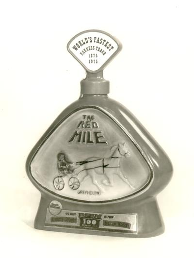 Horses; Harness Racing; The Red Mile; Jim Beam bottle for The Red Mile Centennial, 1975