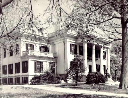 Houses; Unidentified; A large house with four huge columns on the front