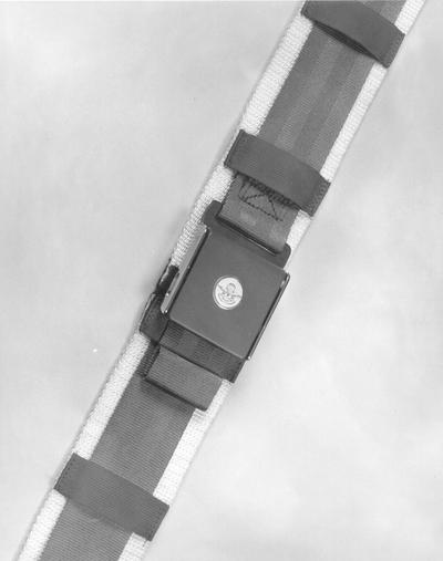 Irvin Industries; Close-up of a seat belt