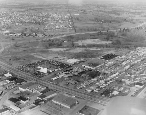 Paul Miller Ford; Aerial view of Paul Miller Ford, 1972