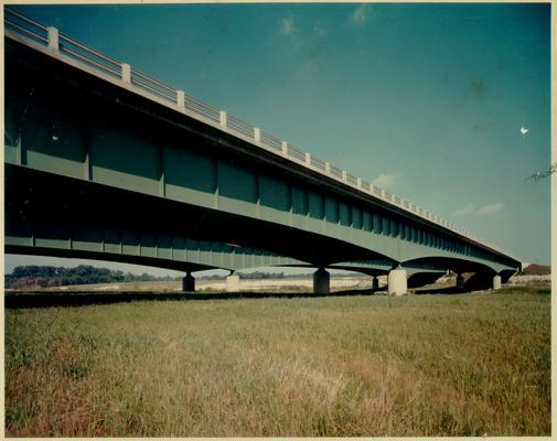 Road Scenes; Color view of the side of a bridge