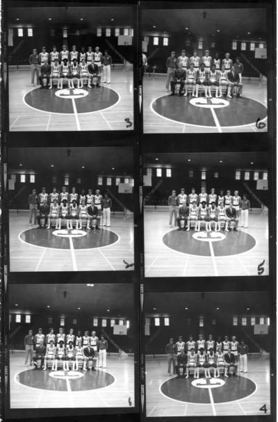 Transylvania University; Basketball; Six photographs of the basketball team