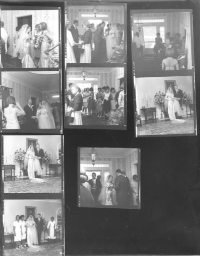 Wedding; Contact sheet; nine photos on wedding ceremony