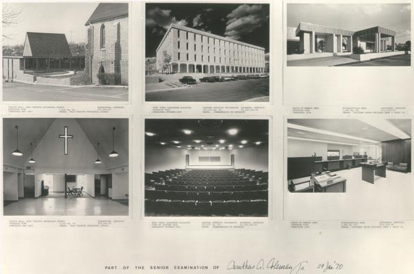 Buildings; Miscellaneous; Six photos of buildings single sheet