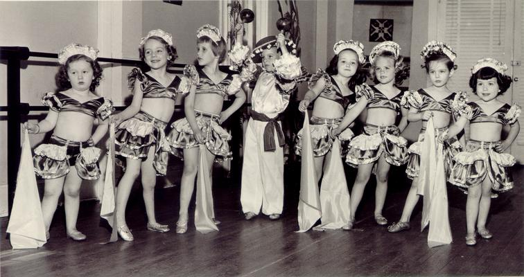 Children; In Costume; Seven very young female dancers
