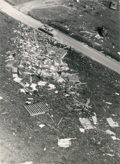 Colombia; 1971 Tornado; Post-tornado carnage