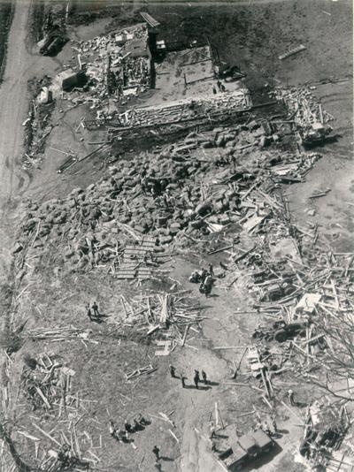 Colombia; 1971 Tornado; A farm damaged by a tornado