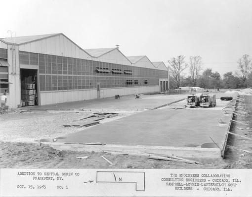Frankfort; Central Screw Company; Construction; Addition to Central Screw Co. #1