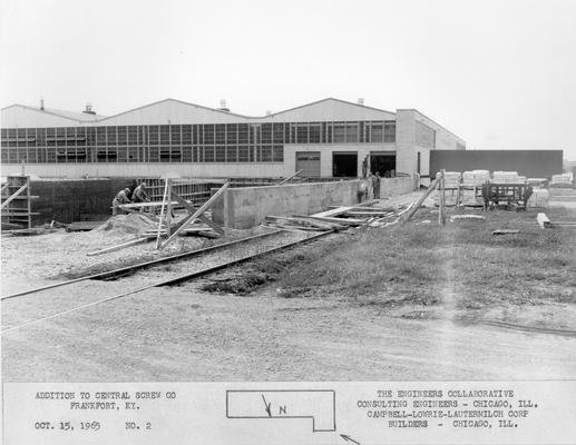 Frankfort; Central Screw Company; Construction; Addition to Central Screw Co. #2