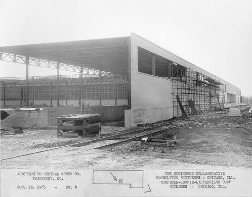 Frankfort; Central Screw Company; Construction; Addition to Central Screw Co. #4