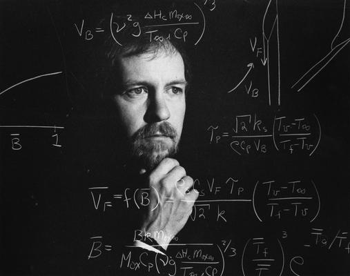 Altenkirch, Robert, Professor of Mechanical Engineering, Photograph created for University of Kentucky advertising series that ran in the Lexington Herald - Leader in 1985, photographer: Public Relations Department, Transferred from 1999UA081, Public Relations Department collection