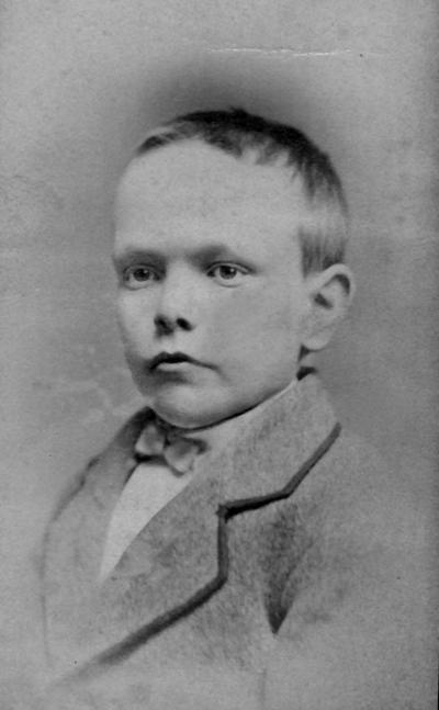 Anderson, F. Paul, Dean of Mechanical Engineering, 1892 - 1918, Dean of Engineering, 1918 - 1934, birth 1867, death April 8, 1934, Photo of Anderson as a young boy, approximately 6 years old