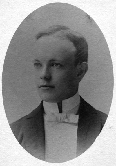 Anderson, F. Paul, Dean of Mechanical Engineering, 1892 - 1918, Dean of Engineering, 1918 - 1934, birth 1867, death April 8, 1934, Photo of Anderson as a young man approximately 18 years old