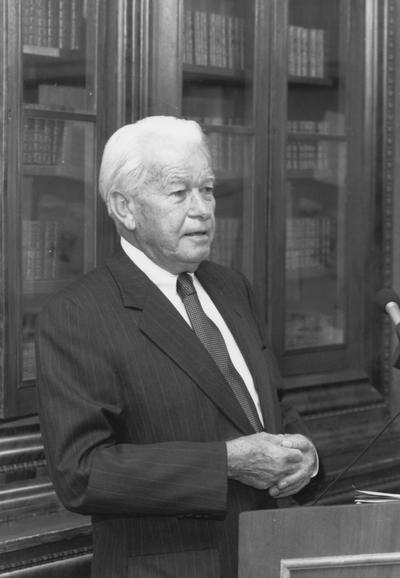 Combs, Bert,  b. 1911, d. 1991, Alumnus, LL.B., 1937, Attorney, Judge, Kentucky Court of Appeals and United States Court of Appeals, 6th District, Governor of Kentucky, 1959 - 1963, Member, Board of Trustees