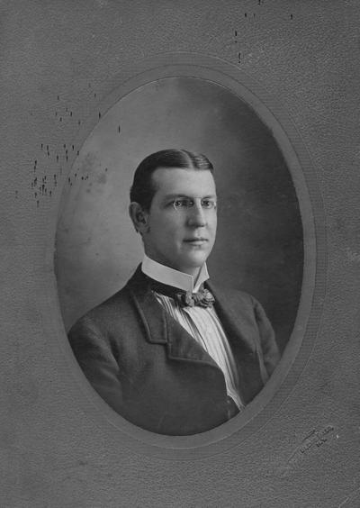 DeRoode, Jr., Rudolph John Julius, 1885 alumnus, print is signed and dated July 12, 1901, Bureau of Source Material in Higher Education