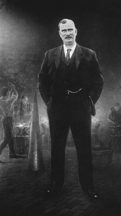 Dicker, Joseph, born March 1, 1861, died October 31, 1917, Superintendent of Shops 1891-1917, College of Mechanical and Electrical Engineering, Image is labeled