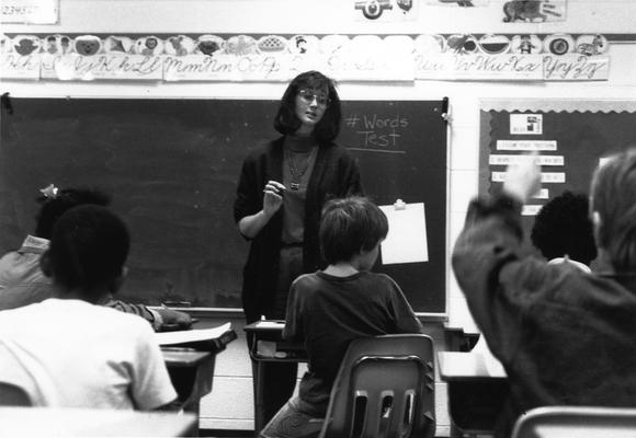Doak, Pam Kirk, pictured in classroom