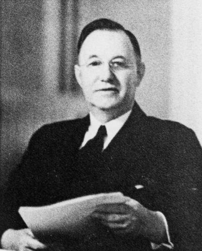 Donovan, Herman Lee, President, University of Kentucky, 1941 - 1956, birth 1887, death 1964, this photograph labeled